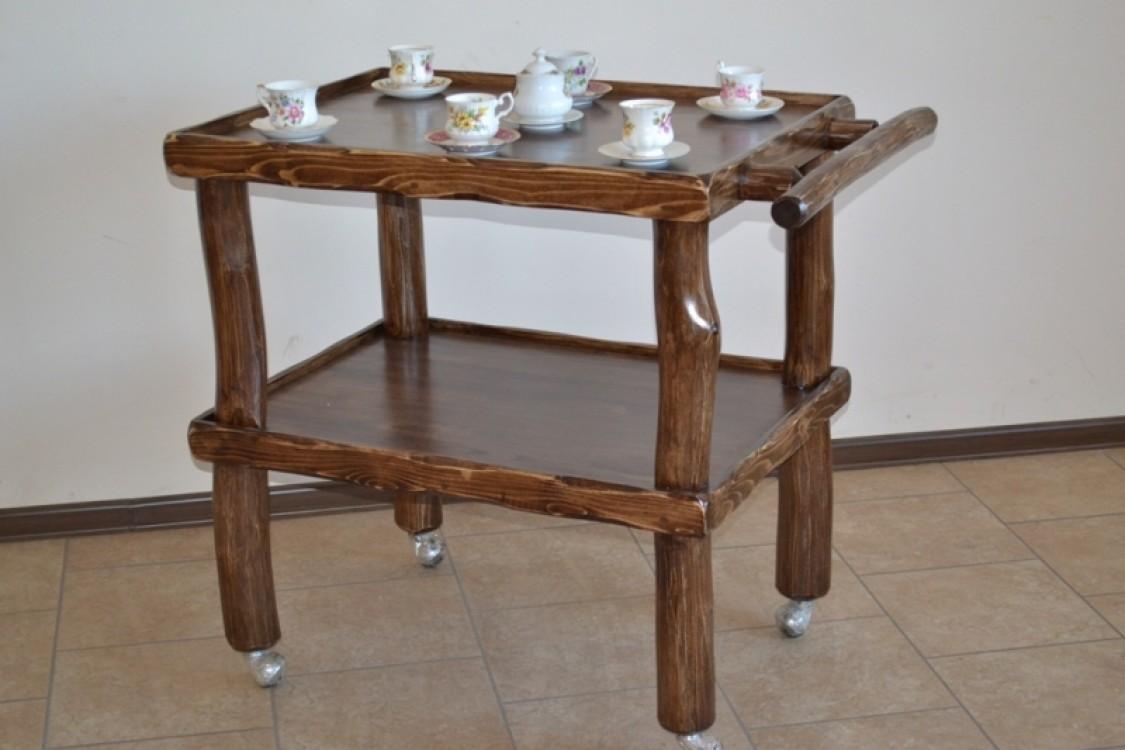 Masivní servirovací stolek