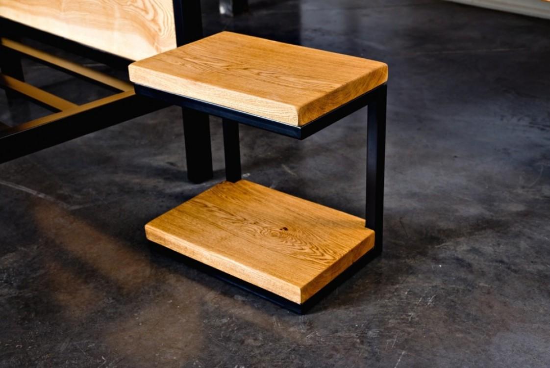 Industriální postel Fiona + noční stolek