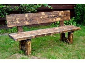 Masivní lavice s opěradlem Choč