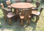 Zahradní nábytek z masivu Sedlo