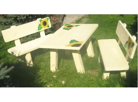 Zahradní nábytek z masivu sestava Doli