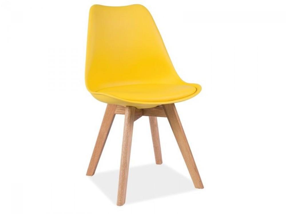 Designová židle Kross - žlutá