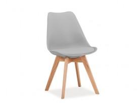 Designová židle Kross - světle šedá