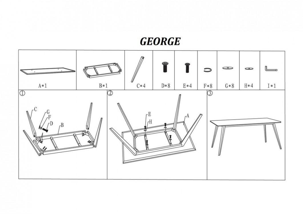 Designový jídelní stůl George