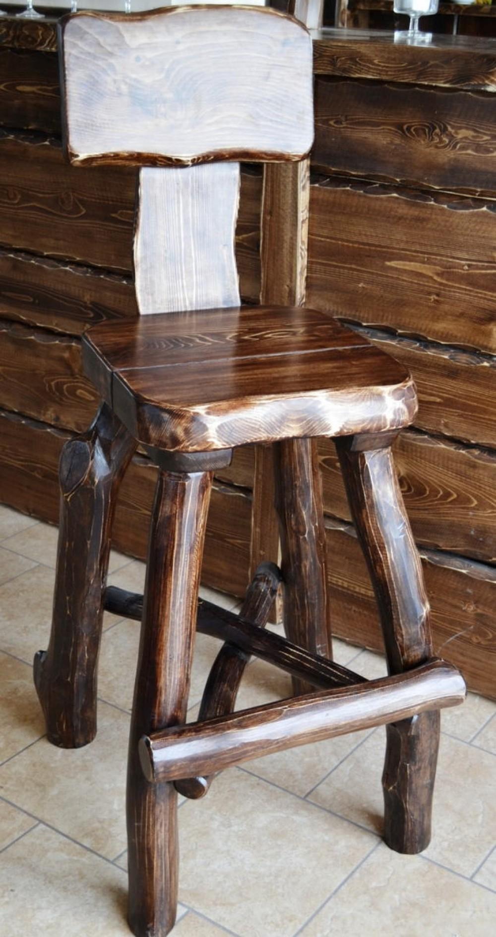 Barová židle masivní Zoja